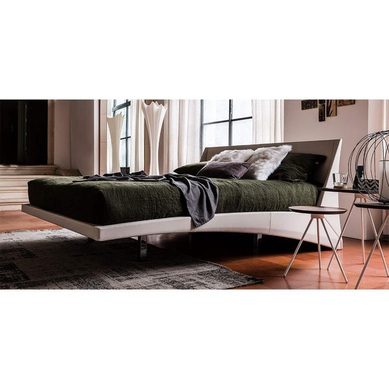 Dylan Bed with green bedding and sheets