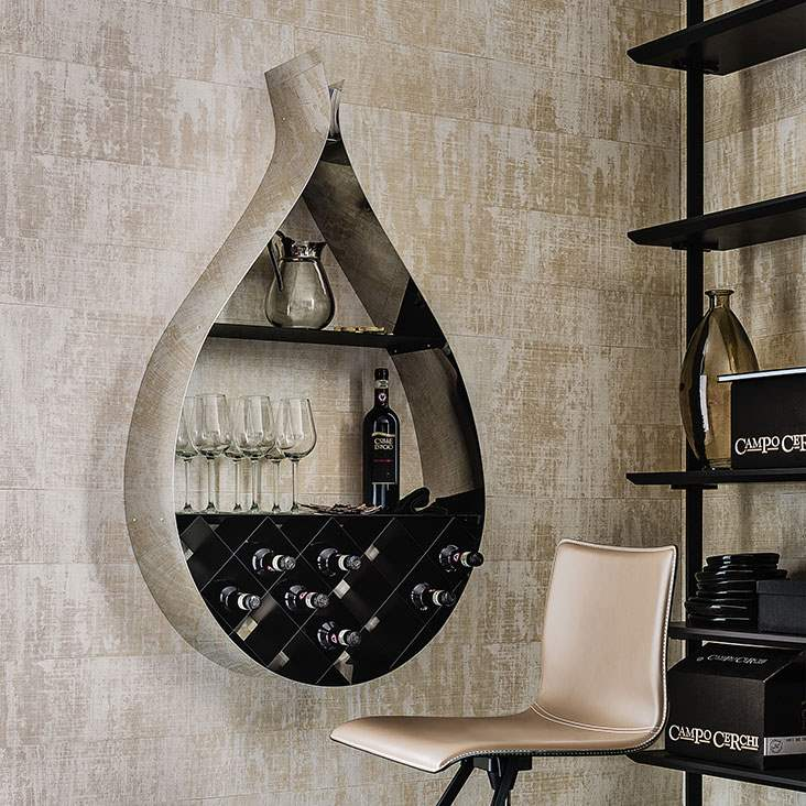 Drop - Modern wine rack by Cattelan Italia