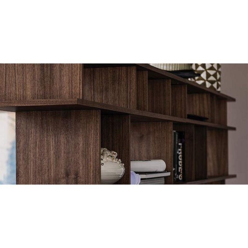 Wooden shelf room divider made in Italy