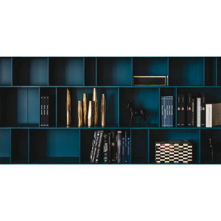 Blue version of the Wally bookcase by Cattelan Italia