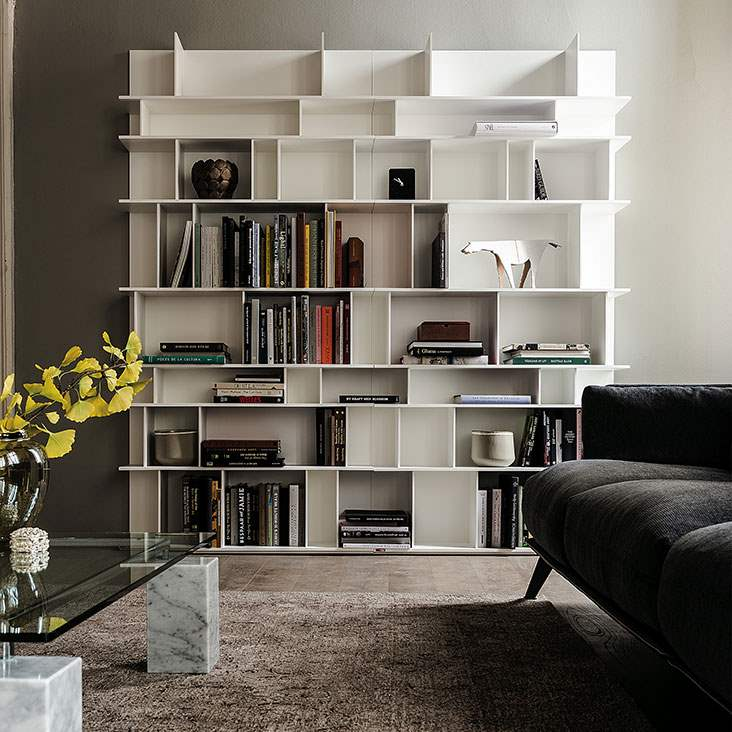 Wally - Modern modular bookcase by Cattelan Italia