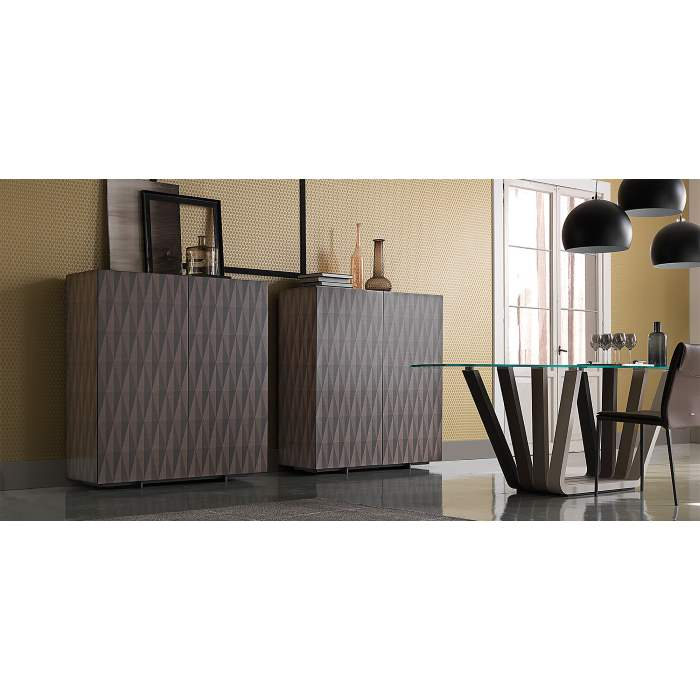 Italian buffet with geometric patterned front