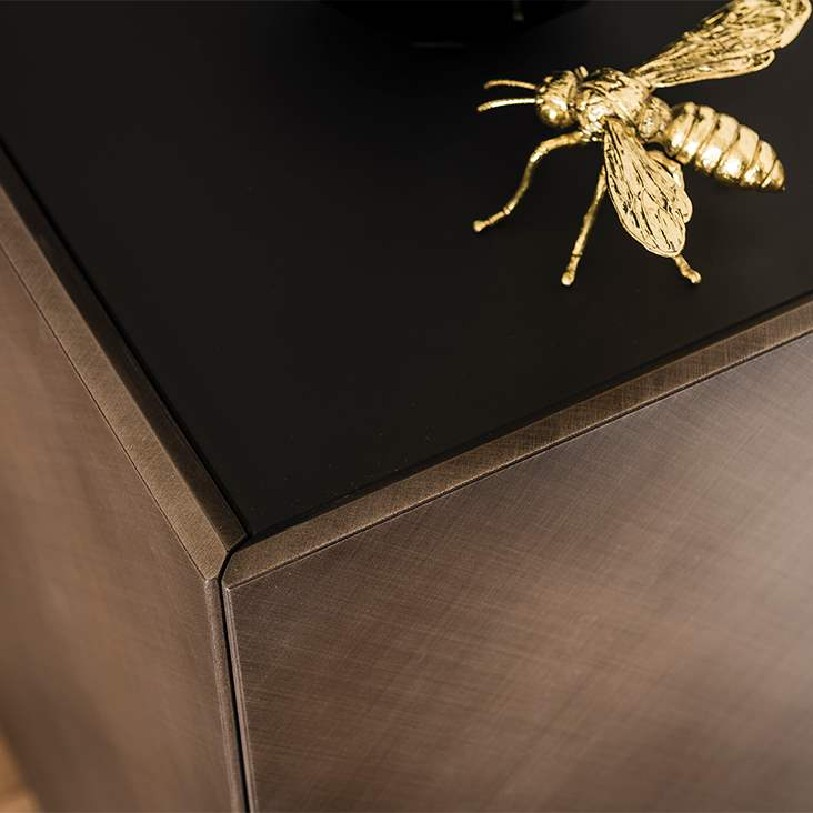 Italian sideboard with bronze fly on top