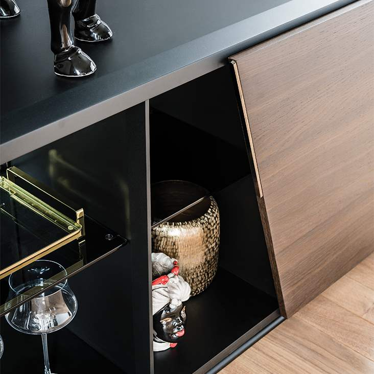 Close view of Aston buffet by Cattelan Italia