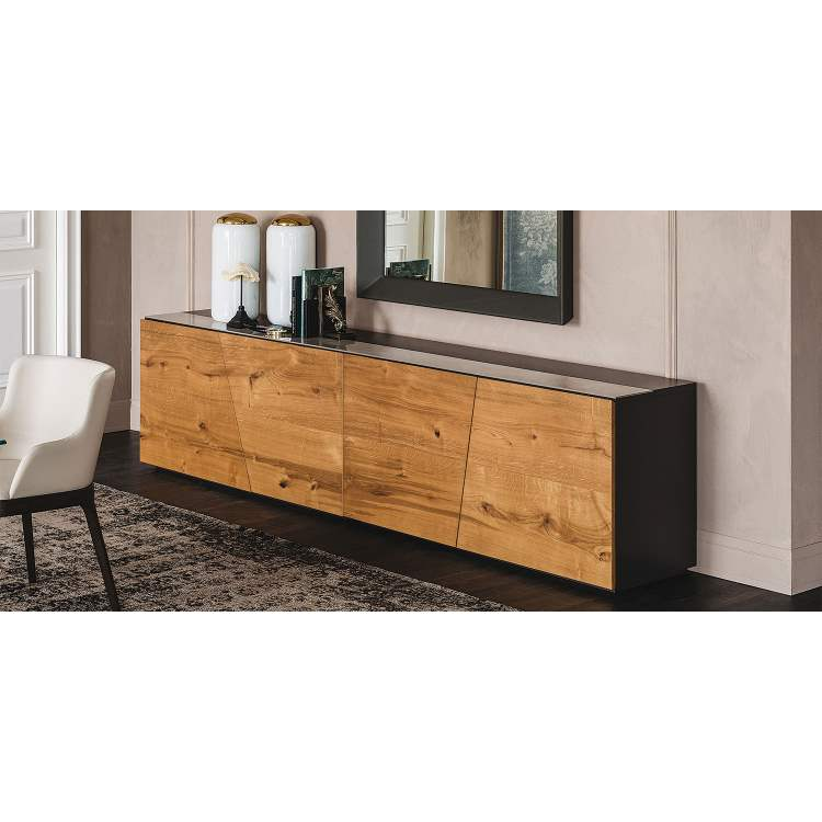Explorer high end buffet with oak finish