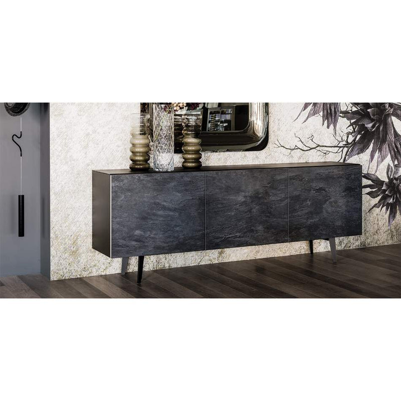 Metropol buffet with graphite finish