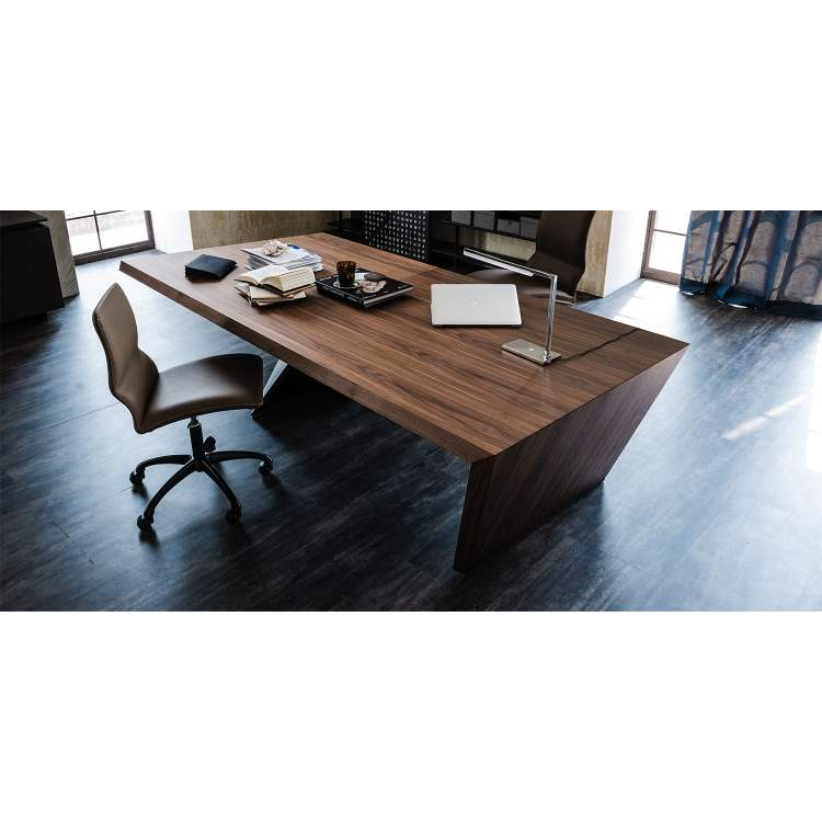 Italian desk with hardwood floor below