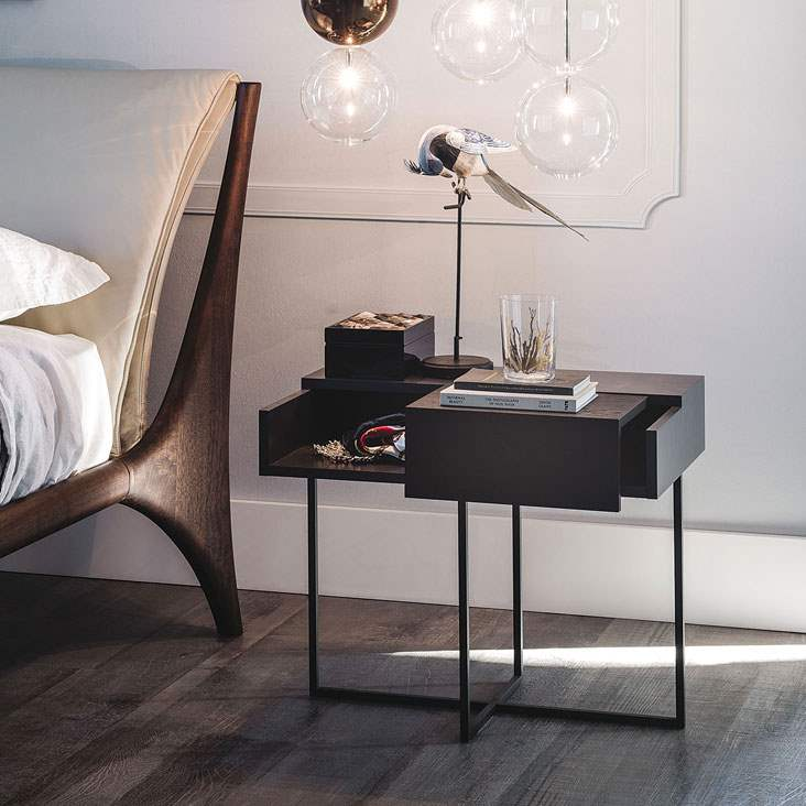 nightstand with wood drawers  by Cattelan Italia