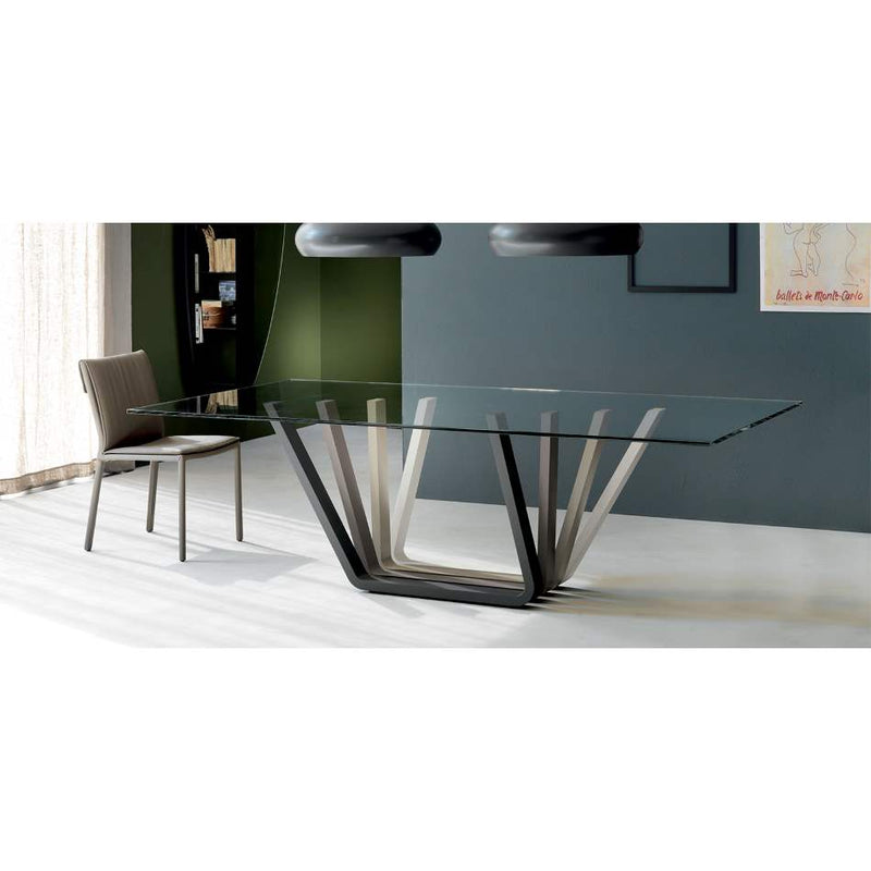 Domino - Dining table  glass  top Cattelan Italia