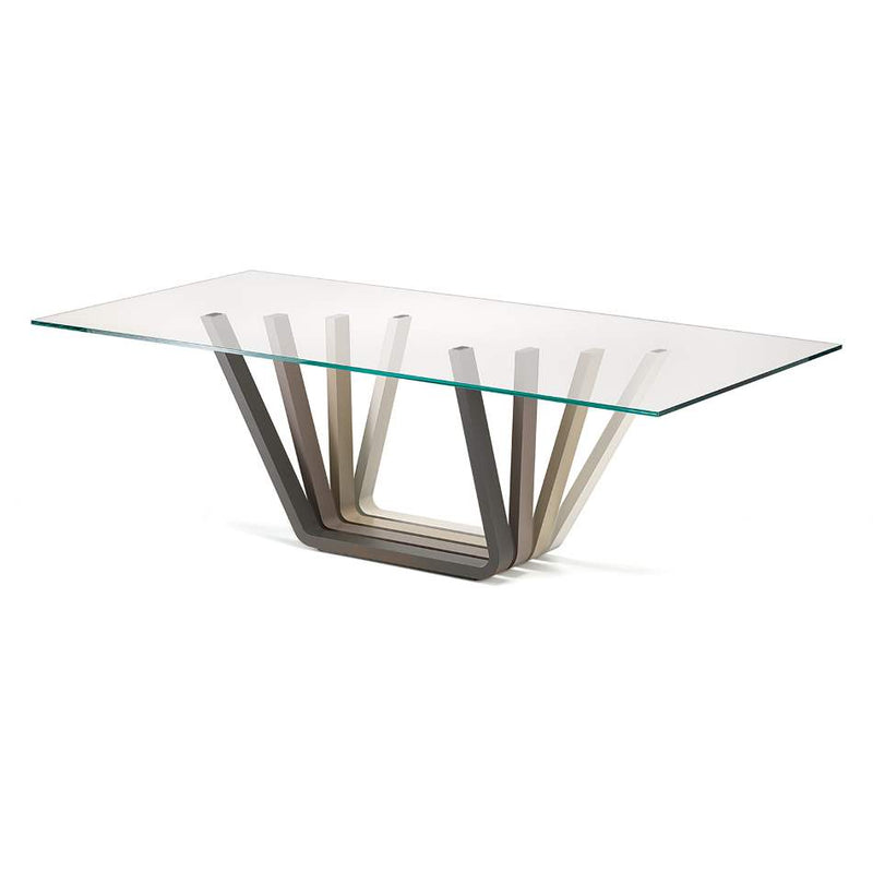 Glass topped table made in Italy by Cattelan Italia