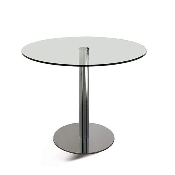 Henry - Modern  table  with round glass  top  by Cattelan Italia