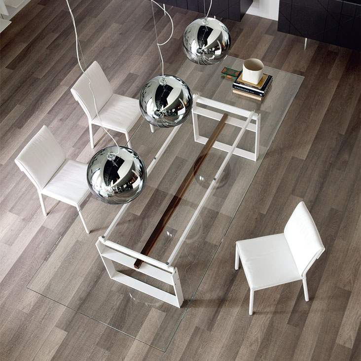 Jerez - Dining table with  glass top by Cattelan Italia