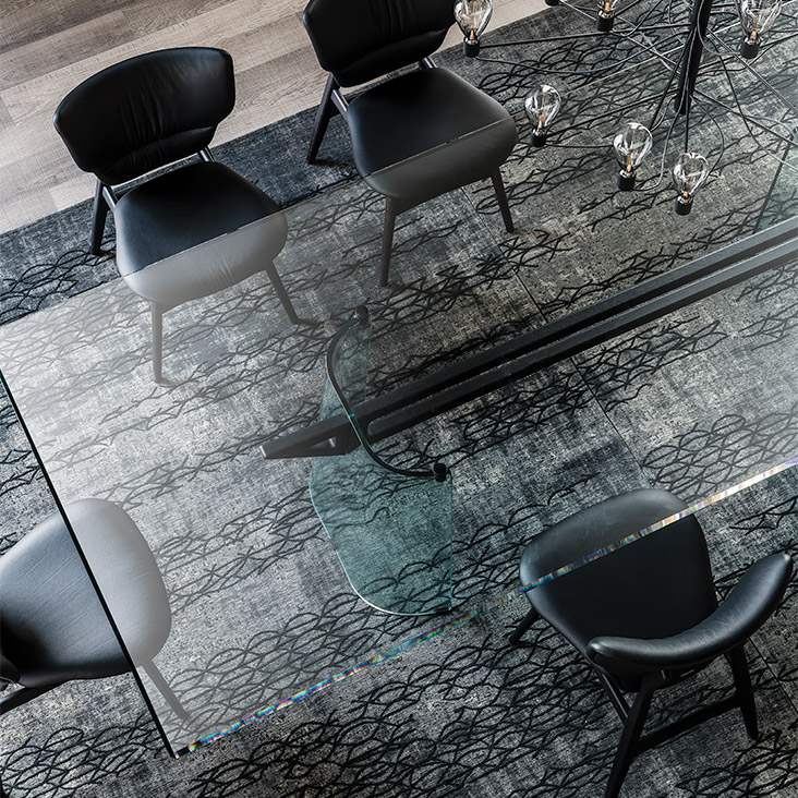 Klirr - Dining table  Glass  top Cattelan Italia
