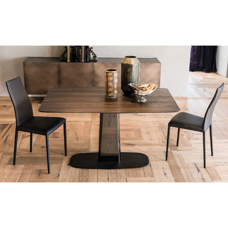 Linus Wood - Modern wood kitchen table by Cattelan Italia