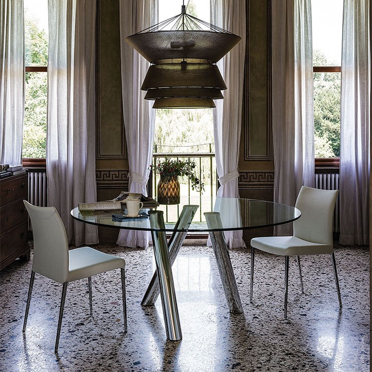 Ray - Dining table Glass  top Cattelan Italia