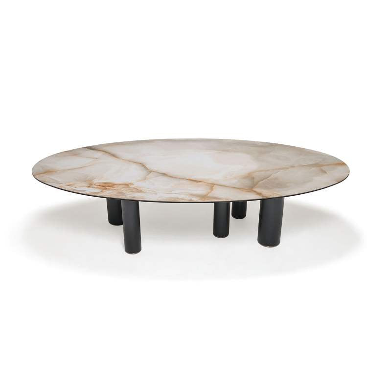 Italian dining table with marbled top