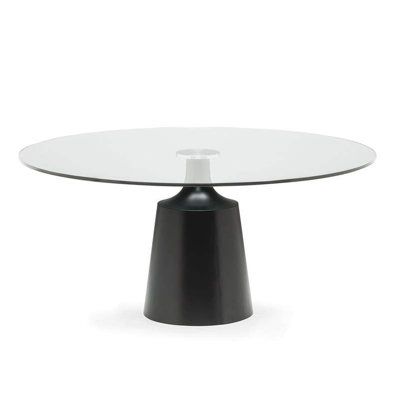 Yoda - Round glass topped dining table by Cattelan Italia