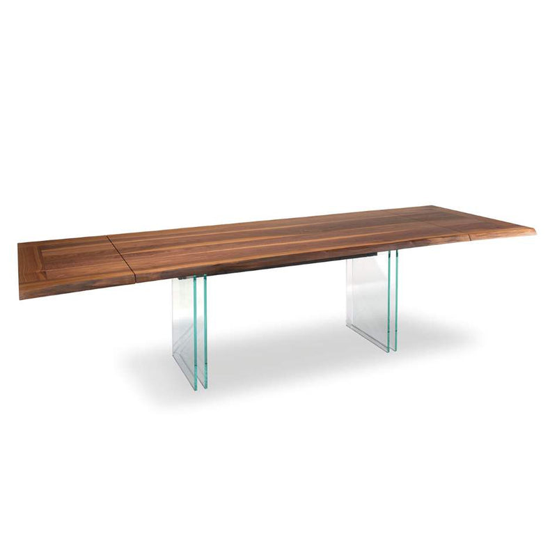 View of Ikon Drive Expandable Table with Glass legs