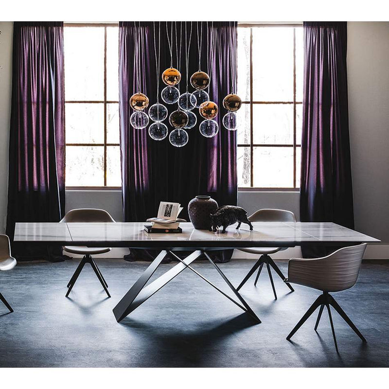 Italian expandable tables by Cattelan Italia