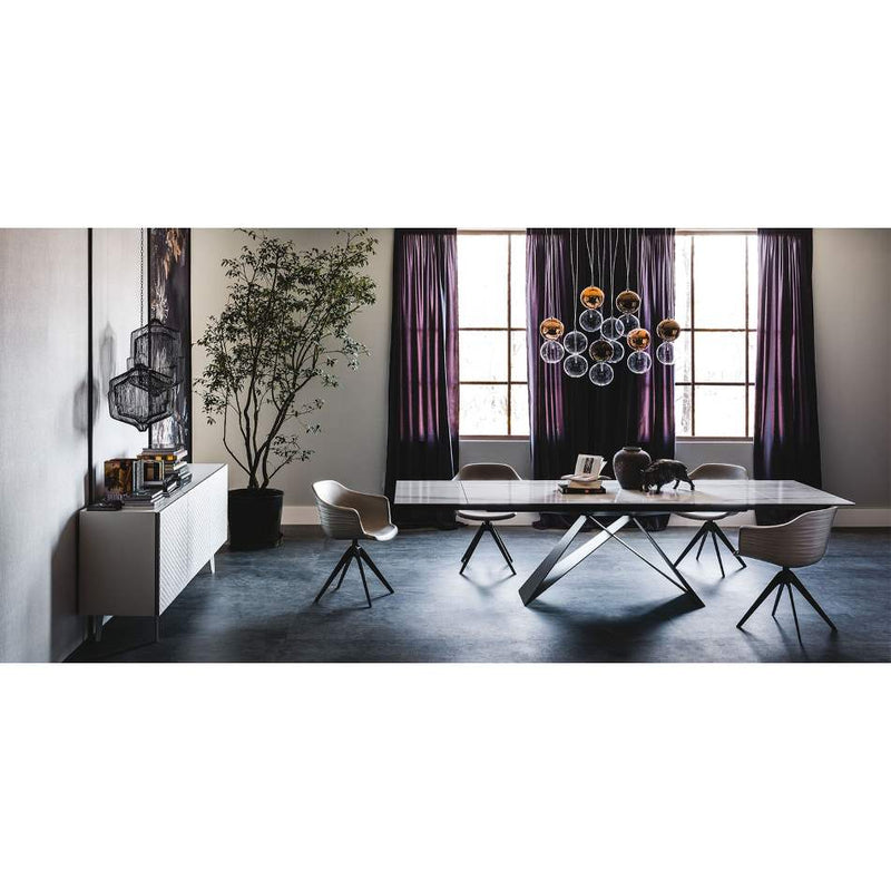 modern Italian dining room full of designer furniture