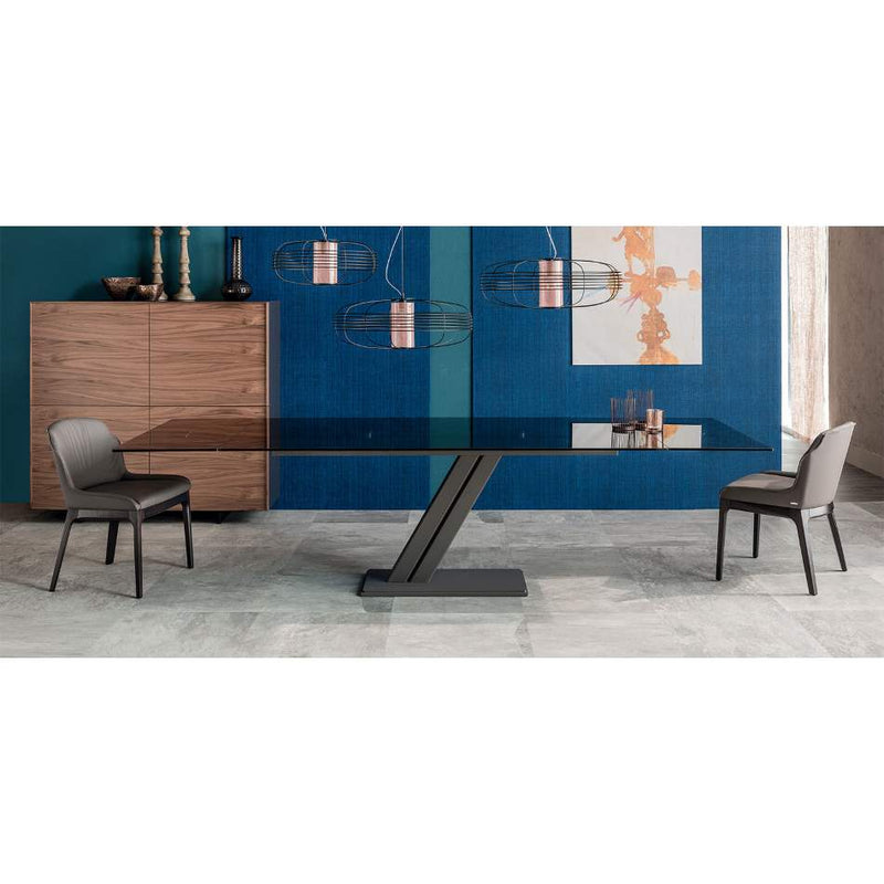Zeus Drive - Expandable dining table glass  top Cattelan Italia