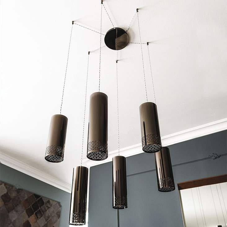 Designer Italian lamps hanging from ceiling