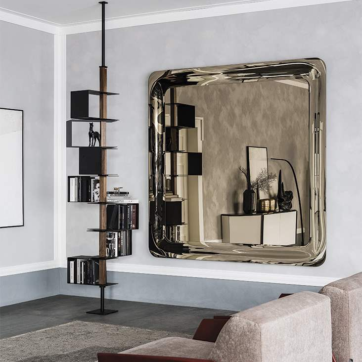 Large rectangular mirror made in Italy by Cattelan Italia