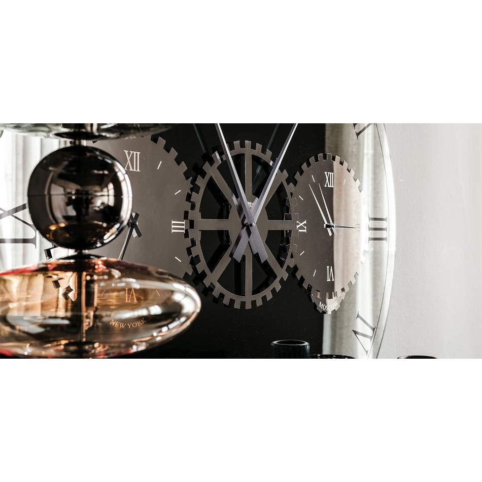 View of modern clock designed in Italy by Cattelan Italia