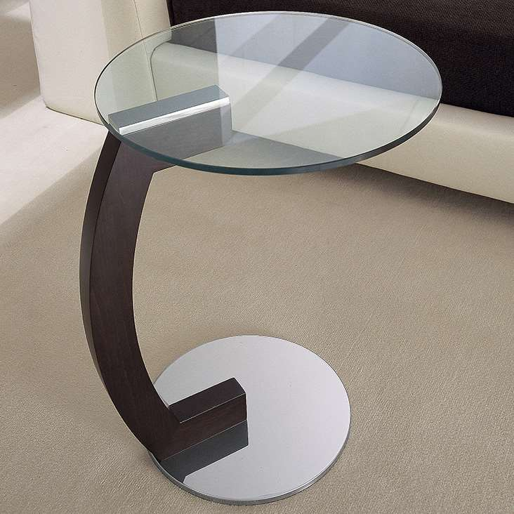 Coletto Coffee Table - Bianco, Blu Scuro & Spago Polished Glass
