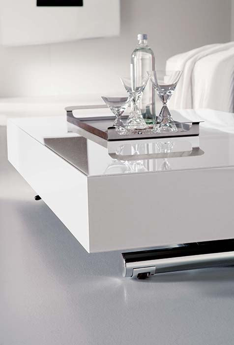 beautiful white ITalian Coffee table