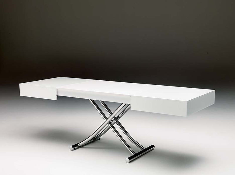 Box Coffee Table - by Ozzio Italia adjusted to dining table configuration