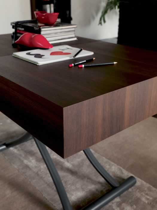 Chocolate oak of Box Legno T111 coffee table by Ozzio