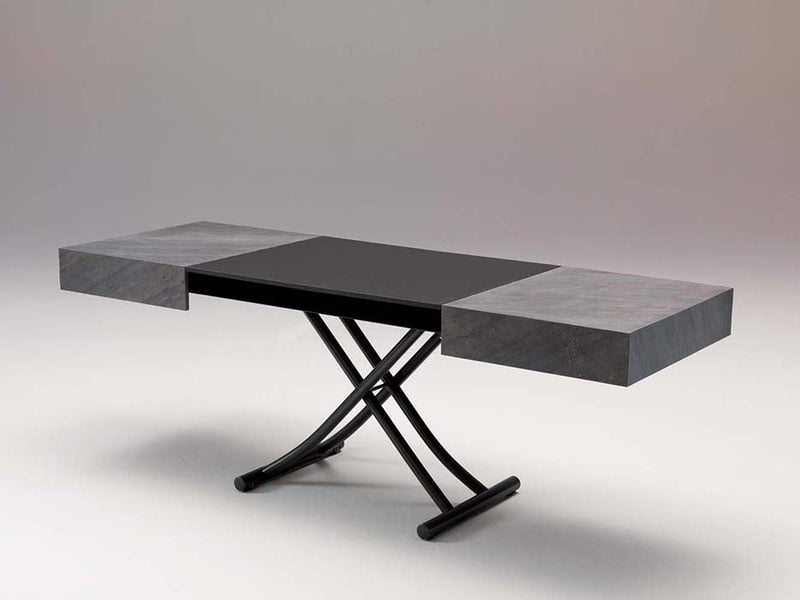 View of dining table of Box Legno T111 coffee table by Ozzio
