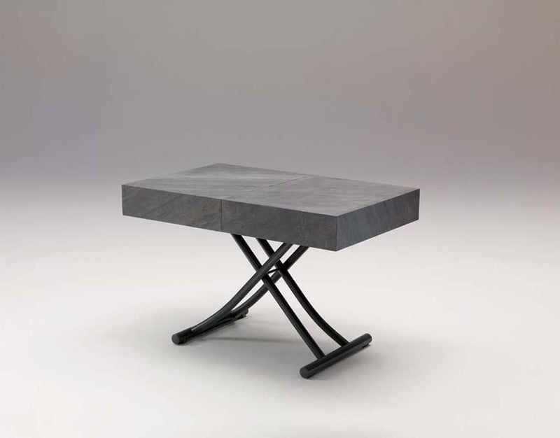 View of raised Box Legno T111 coffee table by Ozzio