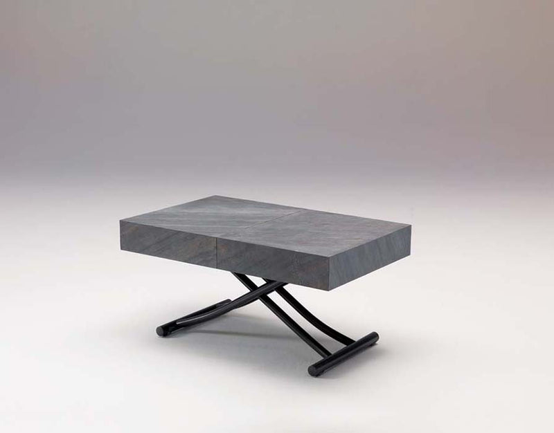 View of slightly raised Box Legno T111 coffee table by Ozzio