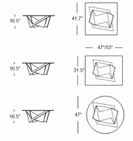 Mathematique Coffee Table design specs
