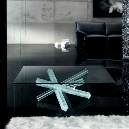 Mikado 40 Coffee Table - Luxury modern  glass  coffee table by Reflex made in Italy