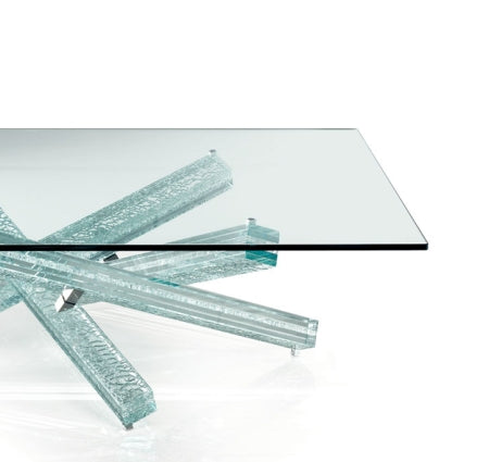 Mikado 40 Coffee Table with star shaped glass base