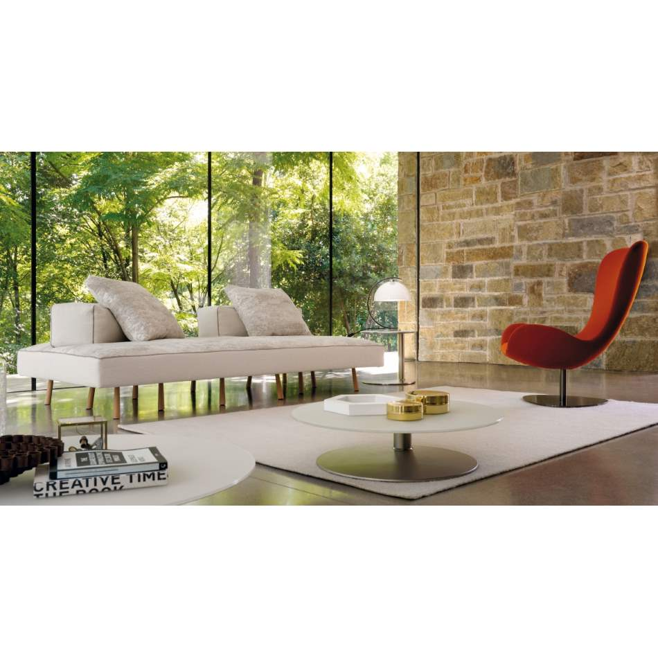 Italian sofa with bucolic background