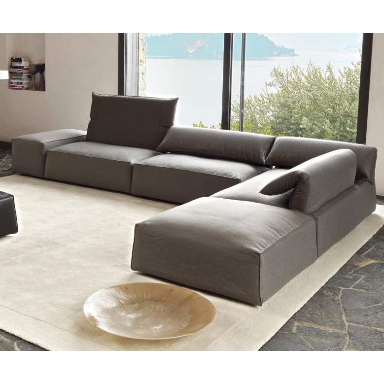 Freemod - Moden sectional with adjustable headrests by Desiree made in Italy