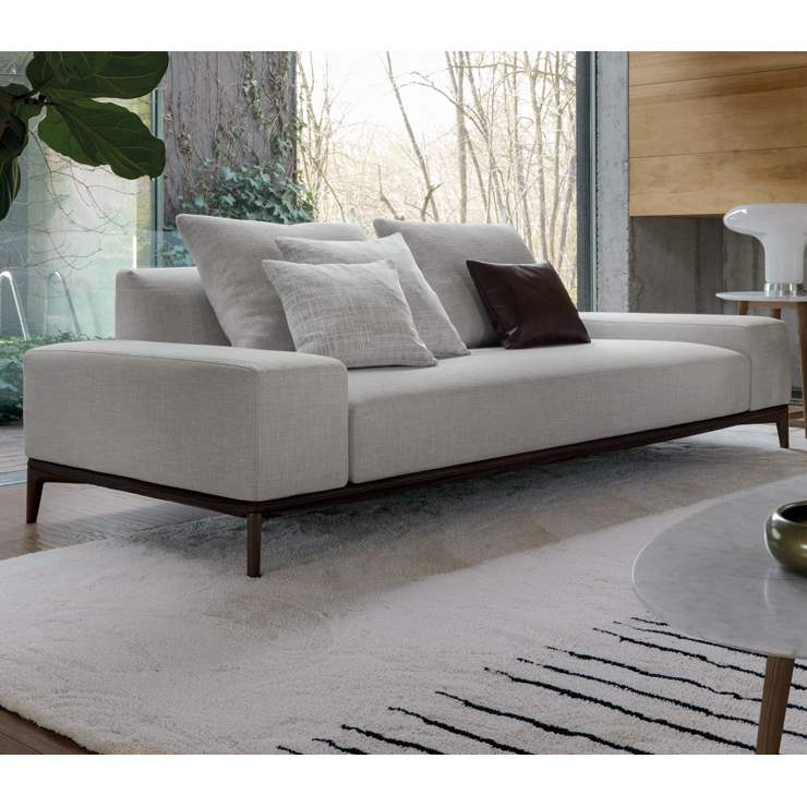 Overplan Sofa - Modern sofa with wood frame by Desiree made in Italy