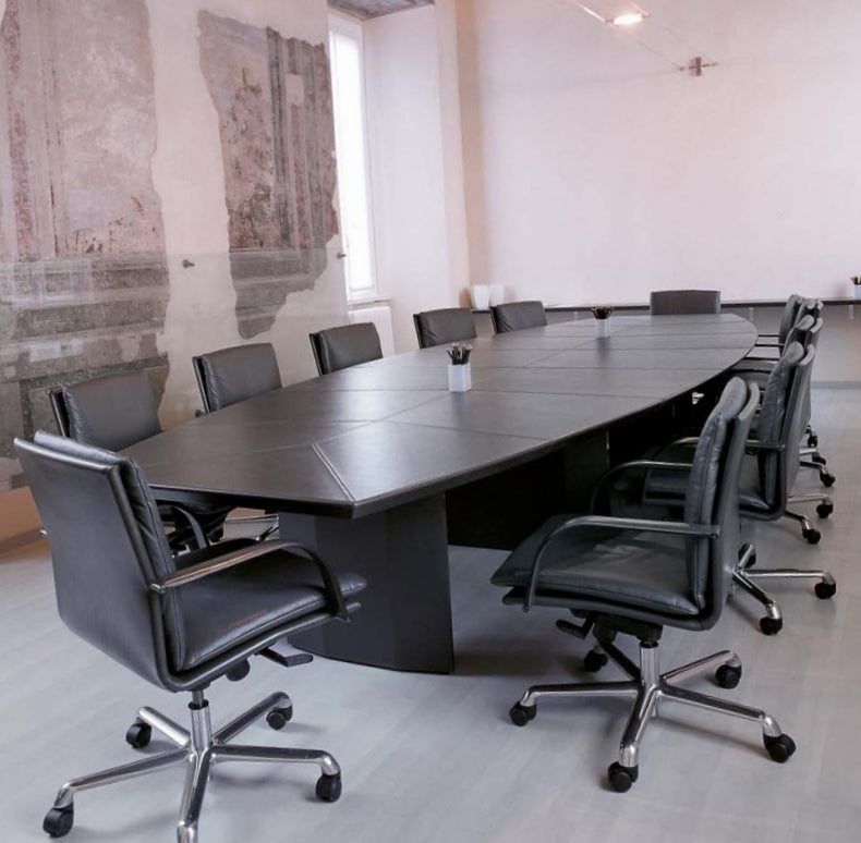 Long black conference table made in Italy