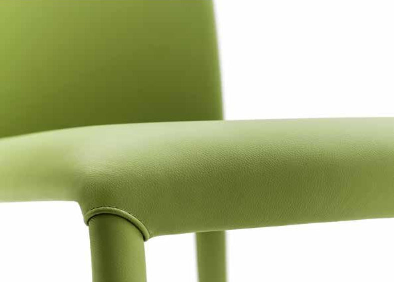 Green Leather Como Arm Chair