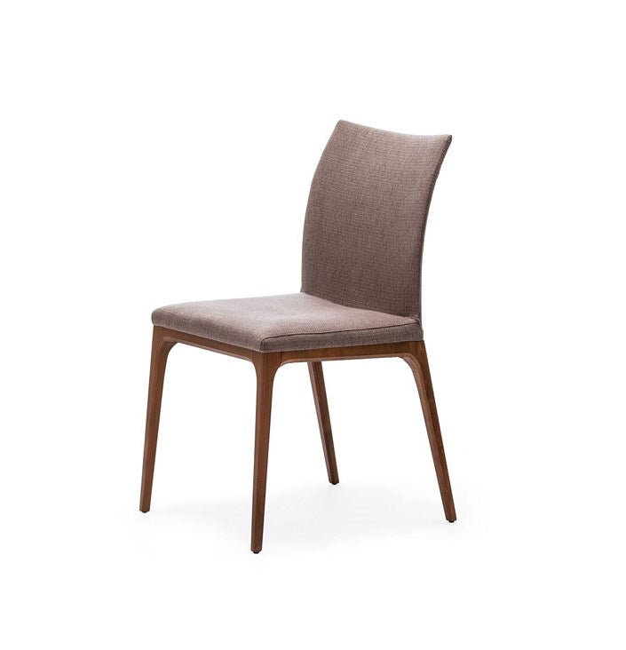 Front View of Chocolate leather Arcadia Chair designed by Cattelan