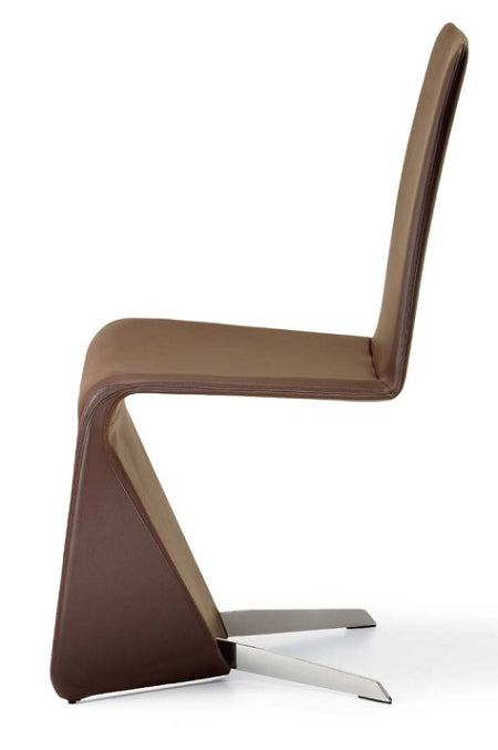 Patricia Dining Chair - modern Italian dining chair side view