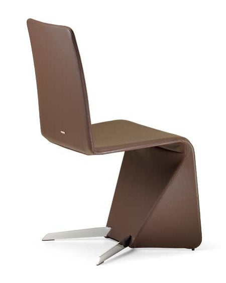 Patricia Dining Chair modern brown leather dining chair