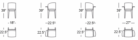 Sit Dining Chair design specs