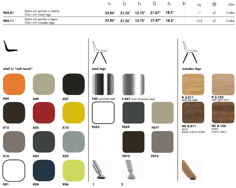 Step 904 Chair by Tonon product spec sheet