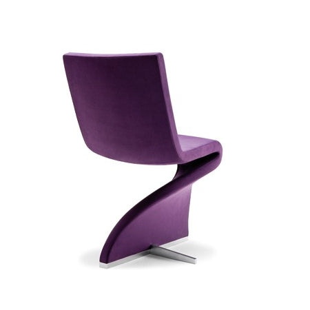 Purple designer Italian dining chair