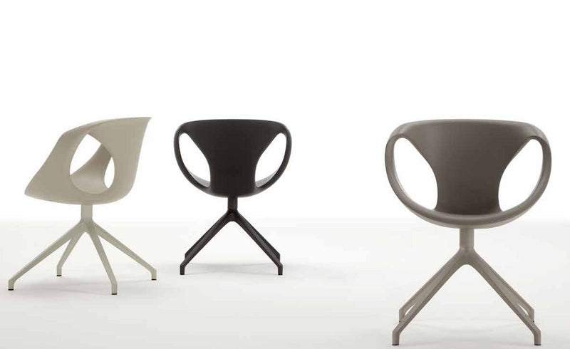 Three modern dining chairs made in Italy
